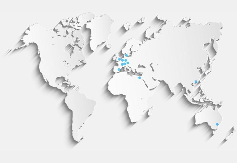 Keytec ist weltweit für Sie im Einsatz