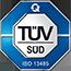 Keytec ist von der TÜV Süd Product Services GmbH zertifiziert