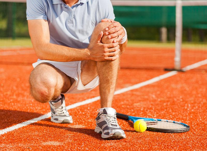 Anwendung des sanakey am Bewegungsapparat, beispielsweise bei Muskel- und Gelenkschmerzen