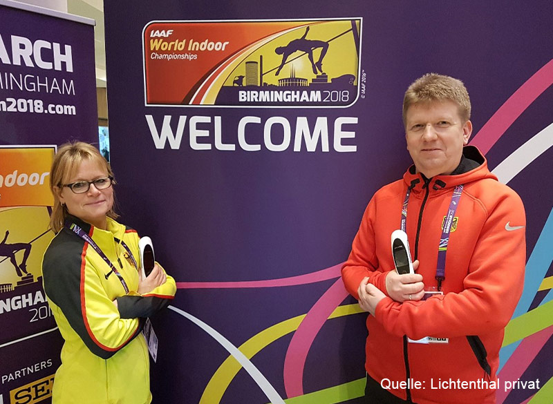 Ute Schwering und Andrew Lichtenthal, Leichtathletik, mit dem physiokey