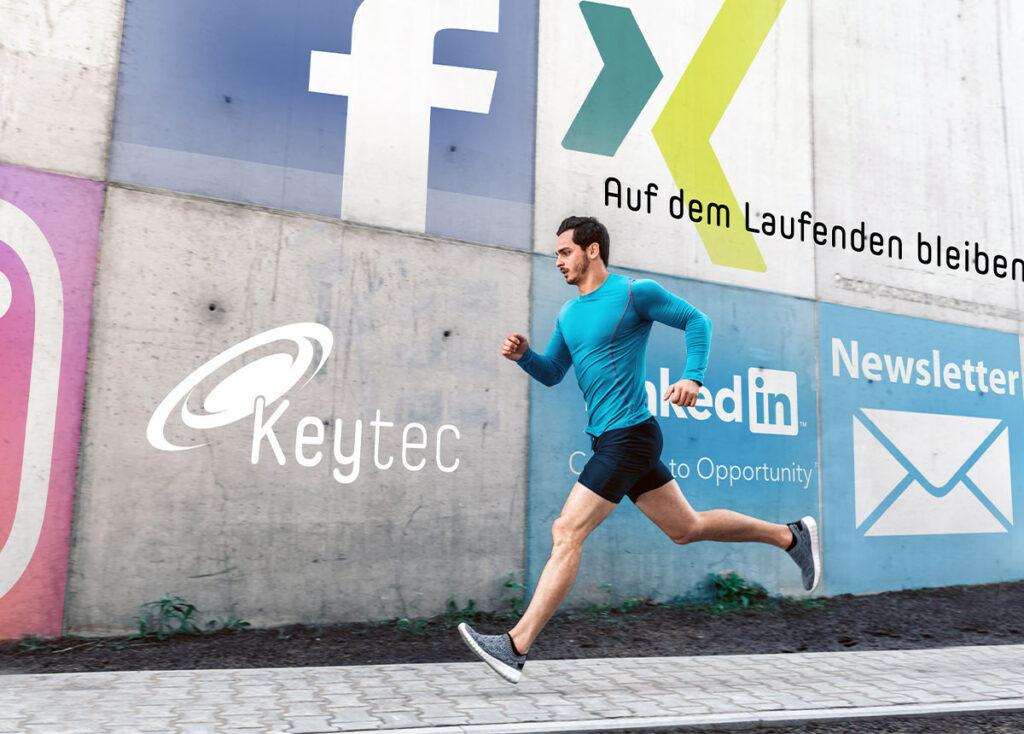 Newsletter und Social Media von Keytec